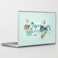 gemma correll Laptop & iPad Skins featuring I Think You're Lovely by gemma correll