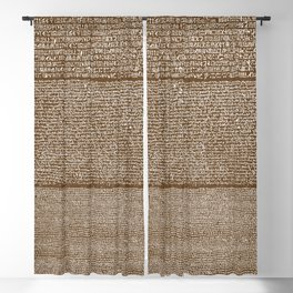 The Rosetta Stone // Dark Brown Blackout Curtain
