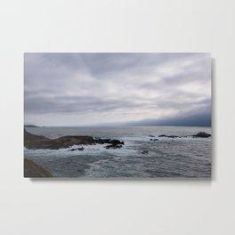 Stormy Pacific Metal Print