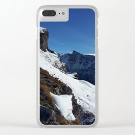 Gemmipass above Leukerbad, Valais, Swiss Alps V Clear iPhone Case