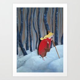 Waiting in the Woods Art Print