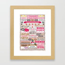 Without Merit Book Collage Framed Art Print
