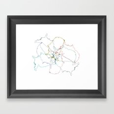 Map collage Framed Art Print