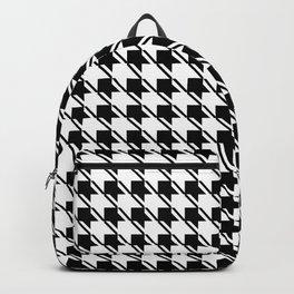 Black White Houndstooth Backpack