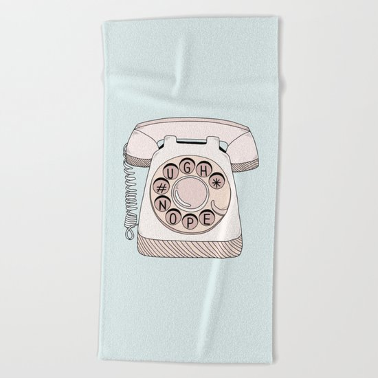 Phone Call Beach Towel