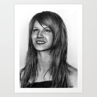 hayley williams Art Prints featuring Hayley Williams by ''Befne''