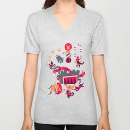 Circus is coming Unisex V-Neck