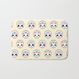 Cute sugar skulls Bath Mat