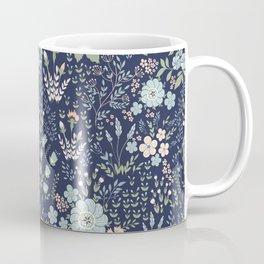 Star Sapphire Floral Coffee Mug
