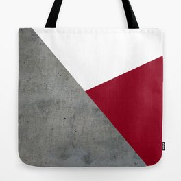 Concrete Burgundy Red White Tote Bag
