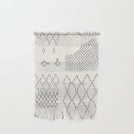 Moroccan Patchwork in Cream and Grey Wall Hanging