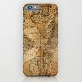 World Map 1746 iPhone Case