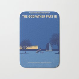 No686-3 My Godfather III minimal movie poster Bath Mat