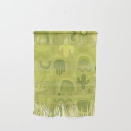 Green Cutout Print Wall Hanging