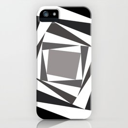 Abstract black white squares iPhone Case