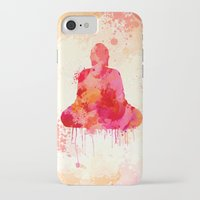 buddhism iPhone & iPod Cases featuring Red Buddha Watercolor art by Thubakabra