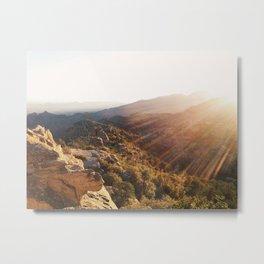 Windy Vista Sunset Metal Print
