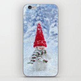 Red Cute Snowman frozen freeze iPhone Skin