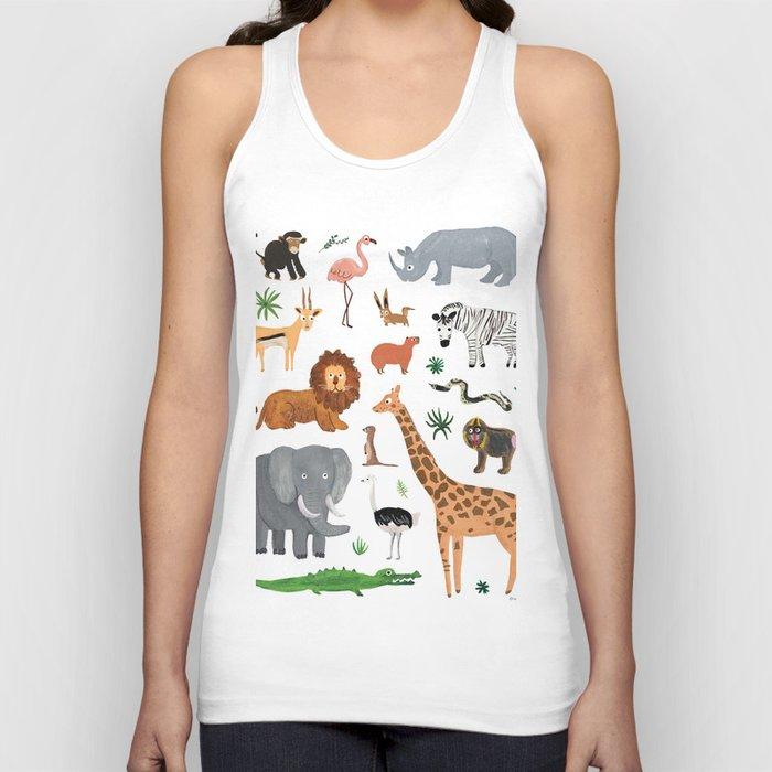 Safari Animals Unisex Tanktop