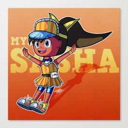 MySims - Sasha as Tokiko Tsuchiya Canvas Print
