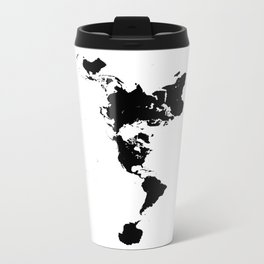 Dymaxion world map fuller projection map minimalist black on dymaxion world map fuller projection map minimalist black on white travel mug gumiabroncs Images