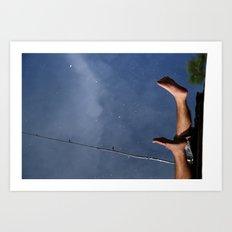 Fishing Feet Art Print