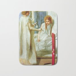 """Dante Gabriel Rossetti """"Ecce Ancilla Domini! (The Annunciation)"""" Bath Mat"""