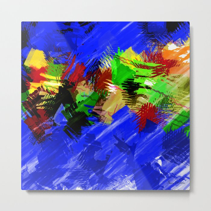 """Fondo marino"" Original Digital Art 2014 Metal Print"