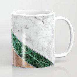 Arrows - White Marble, Green Granite & Wood #941 Coffee Mug