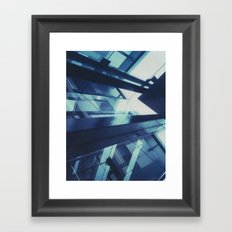 Federation Square, Polaroid Framed Art Print