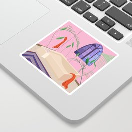 Bathed Sticker