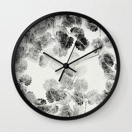 Natural Stamp Pattern Wall Clock