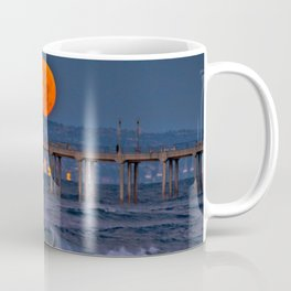 Christmas Moonset Huntington Beach Pier  12/25/15 Coffee Mug