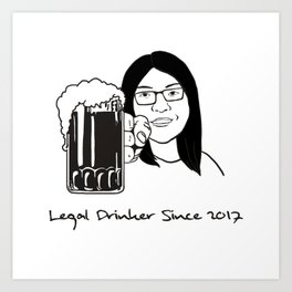 Legal Drinker Since 2017 Art Print