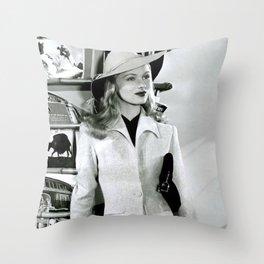 Veronica Lake, Circa 1942 black and white photography - black and white photographs Throw Pillow