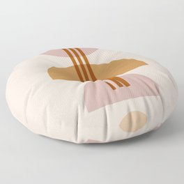 Amber Abstract Half Moon 1 Floor Pillow