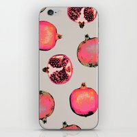 georgiana paraschiv iPhone & iPod Skins featuring Pomegranate Pattern by Georgiana Paraschiv