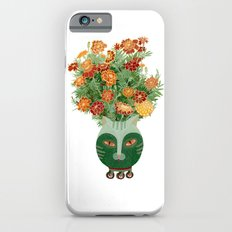 Marigolds in cat face vase  Slim Case iPhone 6s