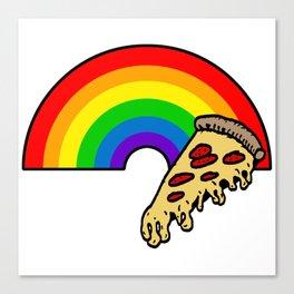 pizza rainbow Canvas Print