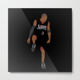 NBA Players | Allen Iverson over Lue Metal Print