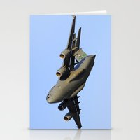 aviation Stationery Cards featuring C-17 Globemaster Aviation USAF Take Off by Aviator
