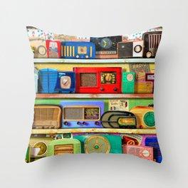 The Golden Age of Radio Throw Pillow