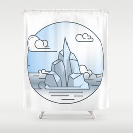 Ice mountains Shower Curtain