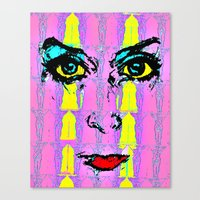 psychology Canvas Prints featuring Pop Psychology by Keith Cameron