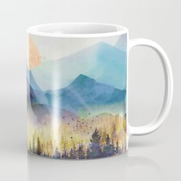 Mountain Lake Under Sunrise Coffee Mug