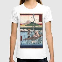 Hiroshige - 36 Views of Mount Fuji (1858) - 18: The Sagami River T-shirt