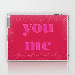you+me valentine Laptop & iPad Skin