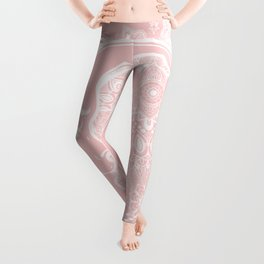 Mandala Moon Pink Leggings