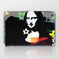 mona lisa iPad Cases featuring Mona Lisa by Big AL