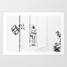 Belgrade / Facade 01 BW Art Print